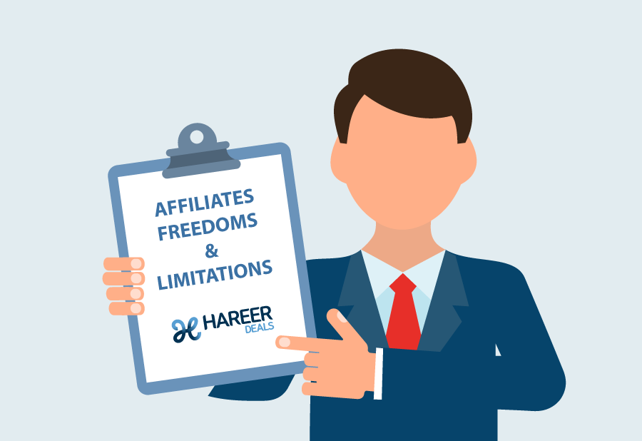 Setting the right expectations, Freedoms and limitations as an affiliate